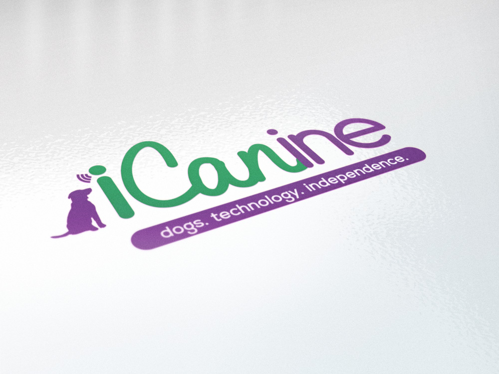 Icanine-logo-glossy-close-up
